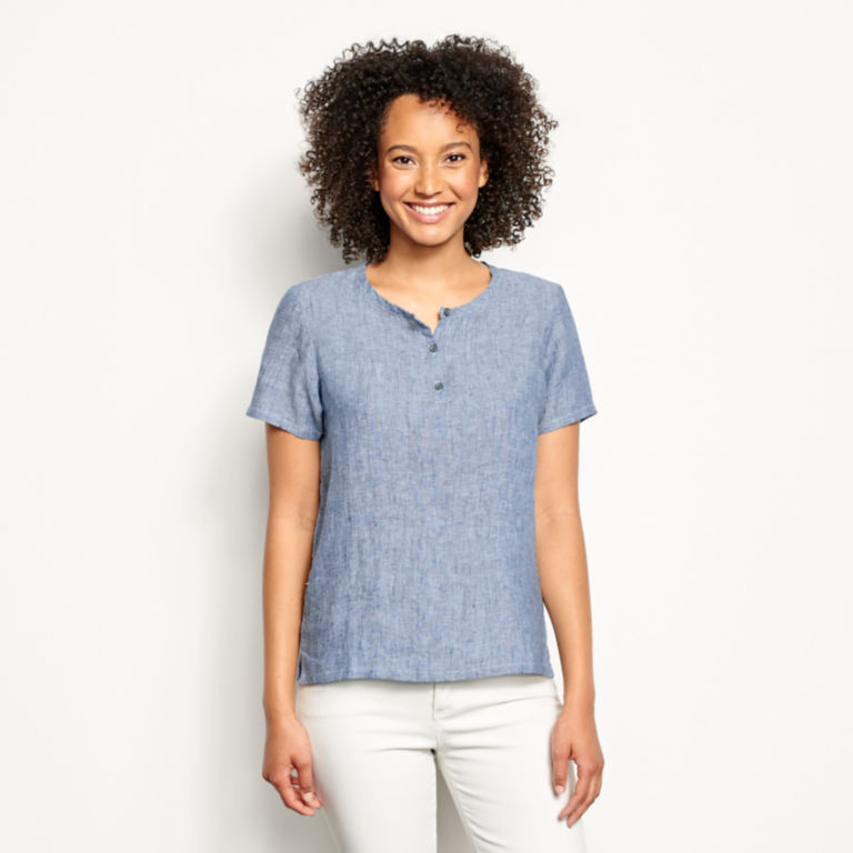 Lightweight Linen Short-Sleeved Sweetwater® Popover -  image number 0
