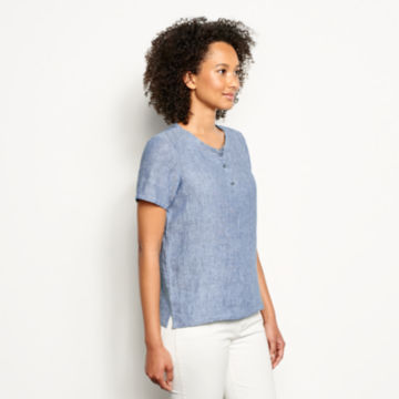 Lightweight Linen Short-Sleeved Sweetwater® Popover -  image number 1