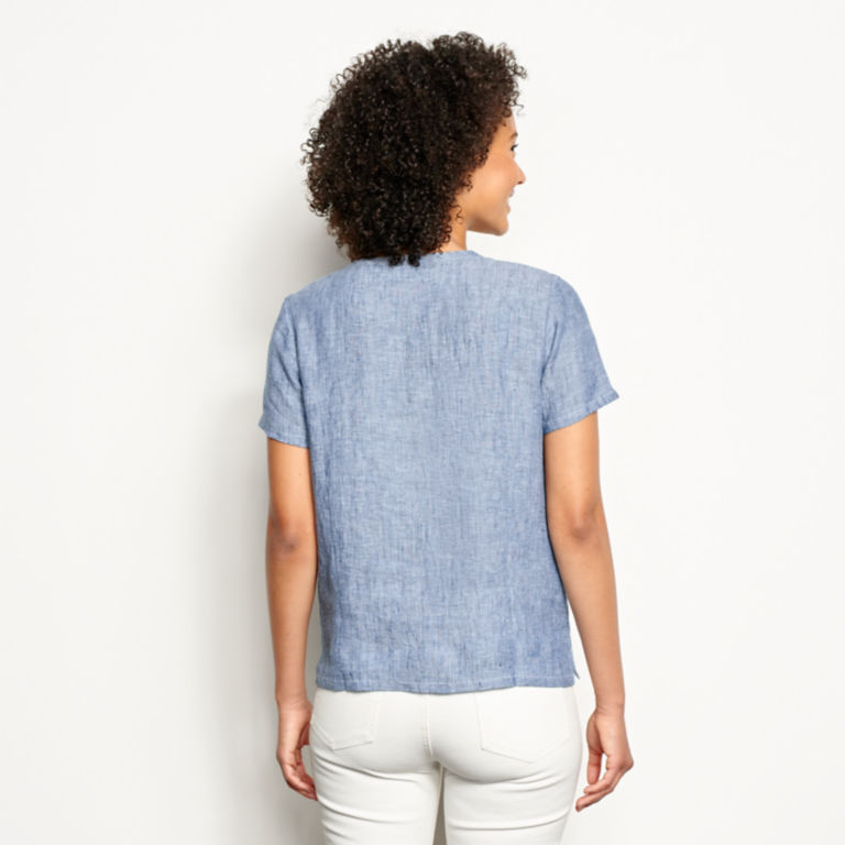 Lightweight Linen Short-Sleeved Sweetwater® Popover -  image number 2