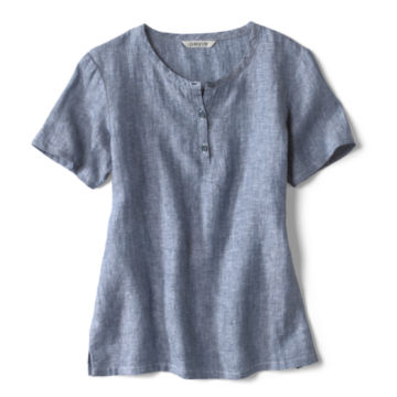 Lightweight Linen Short-Sleeved Sweetwater® Popover -  image number 3