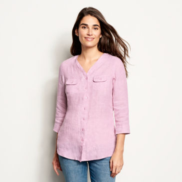 Lightweight Linen Three-Quarter-Sleeved Shirt -