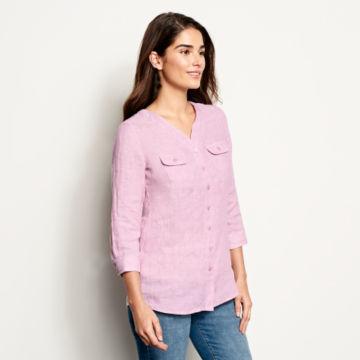 Lightweight Linen Three-Quarter-Sleeved Shirt -  image number 1