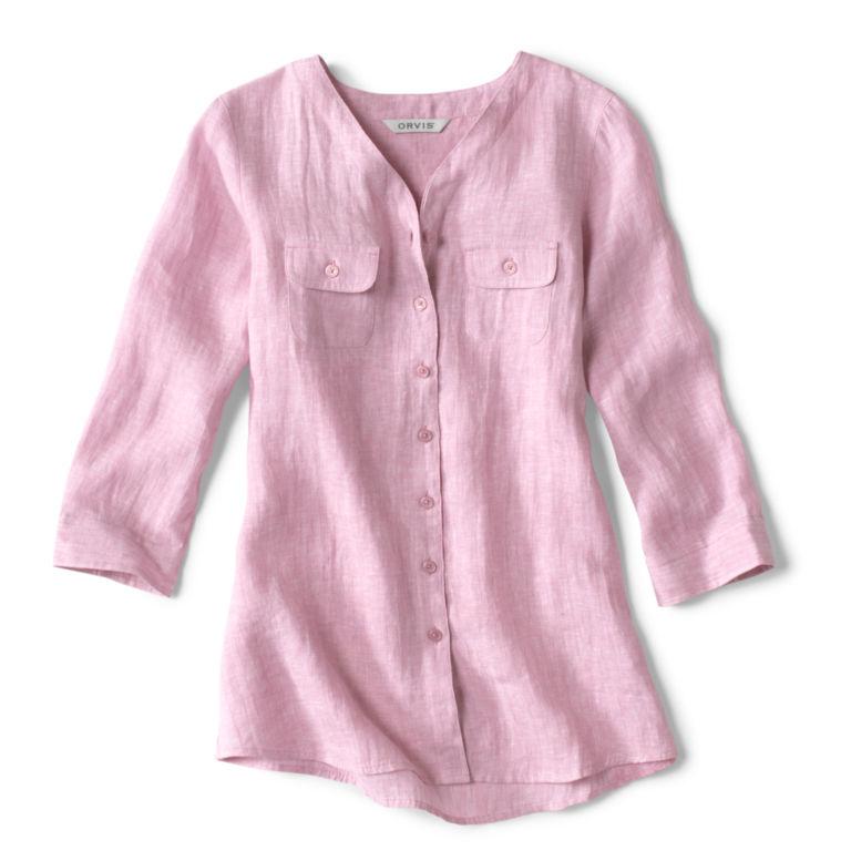 Lightweight Linen Three-Quarter-Sleeved Shirt -  image number 4
