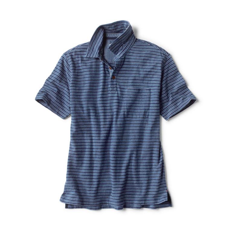 Indigo Stripe Polo -  image number 0