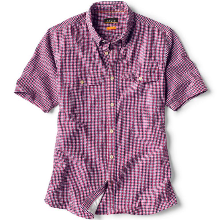 Clearwater Seersucker Short-Sleeved Shirt - RED/WHITE/BLUE image number 0