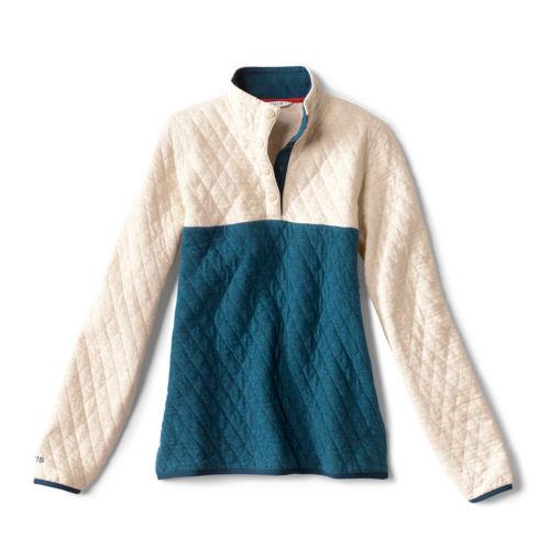 quilted quarter-snap sweatshirt