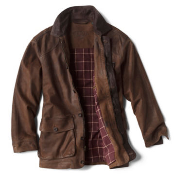 Performance Leather Barn Coat - BROWN image number 1