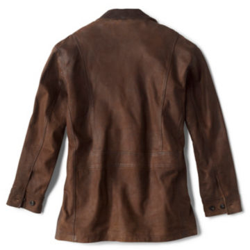 Performance Leather Barn Coat - BROWN image number 2