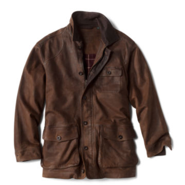 Performance Leather Barn Coat - BROWN image number 0