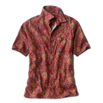 Hemp/Tencel™ Print Short-Sleeved Shirt -  image number 0