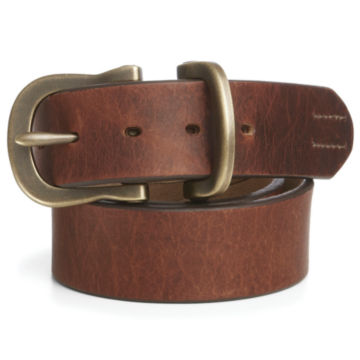 Saddle-Leather Jeans Belt - BROWN image number 0