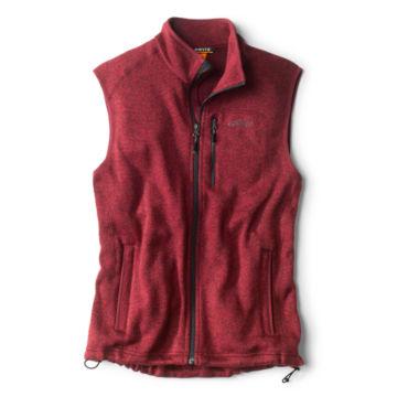 Sweater Fleece Vest - BARN RED image number 0