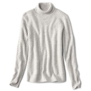 Herringbone-Stitch Cashmere Turtleneck Sweater -  image number 0
