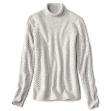 Herringbone-Stitch Cashmere Turtleneck Sweater -
