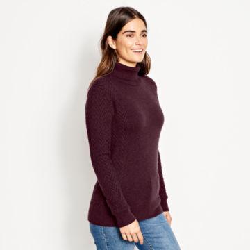 Herringbone-Stitch Cashmere Turtleneck Sweater -  image number 1