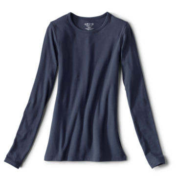 Long-Sleeved Crewneck Perfect Tee -  image number 0