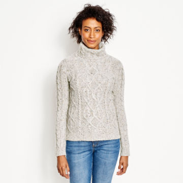 Wool/Cashmere Donegal Turtleneck -  image number 0