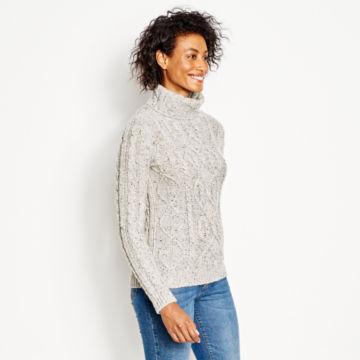 Wool/Cashmere Donegal Turtleneck -  image number 1