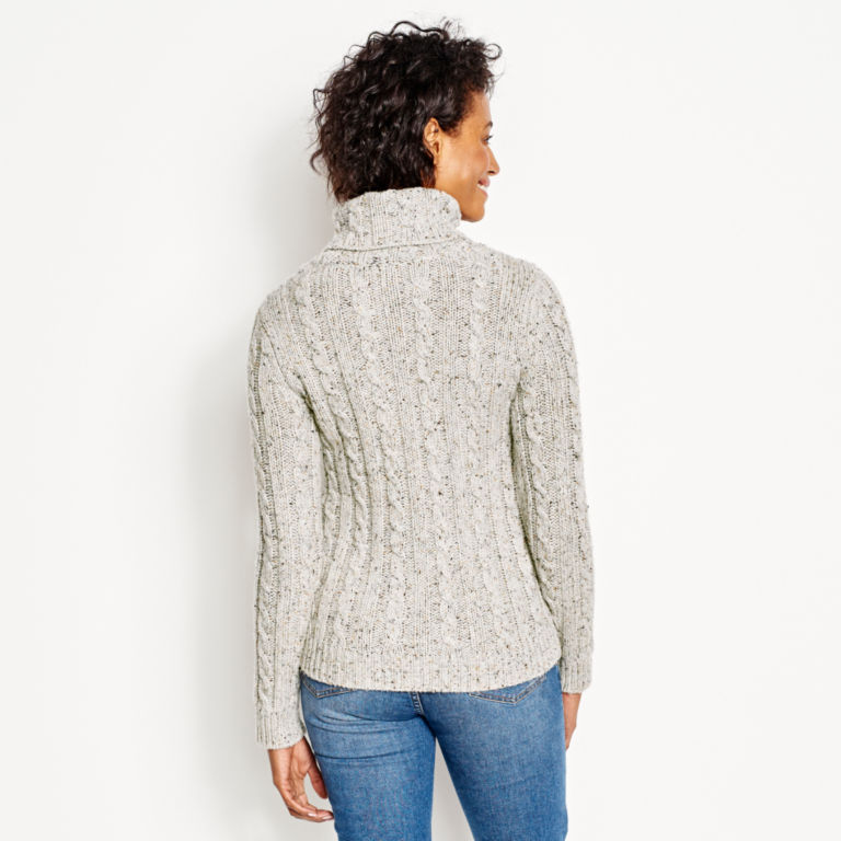 Wool/Cashmere Donegal Turtleneck -  image number 2