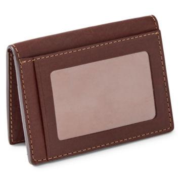 Bison Leather Folding Card Carrier - BROWN image number 1