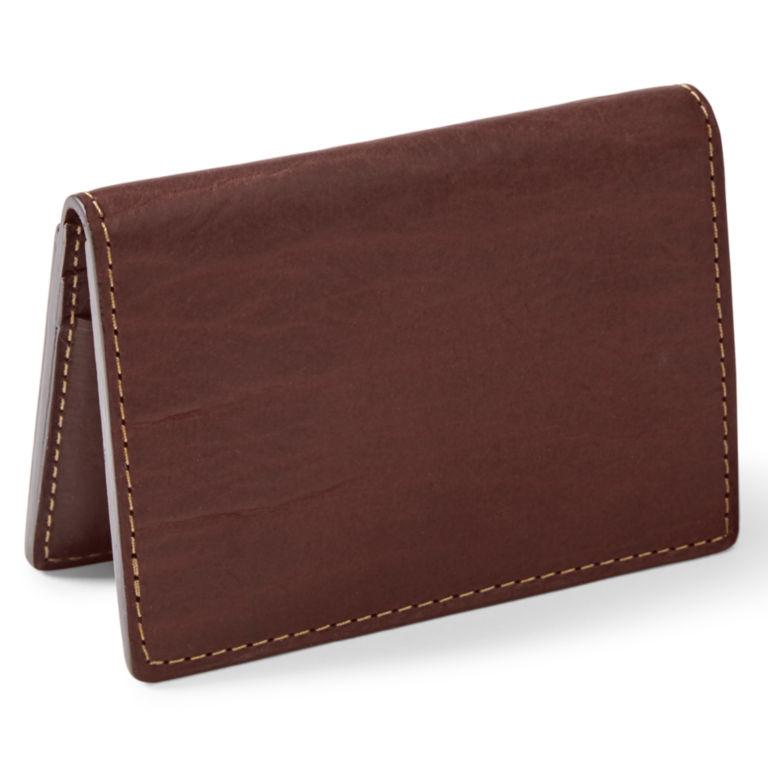 Bison Leather Folding Card Carrier - BROWN image number 2