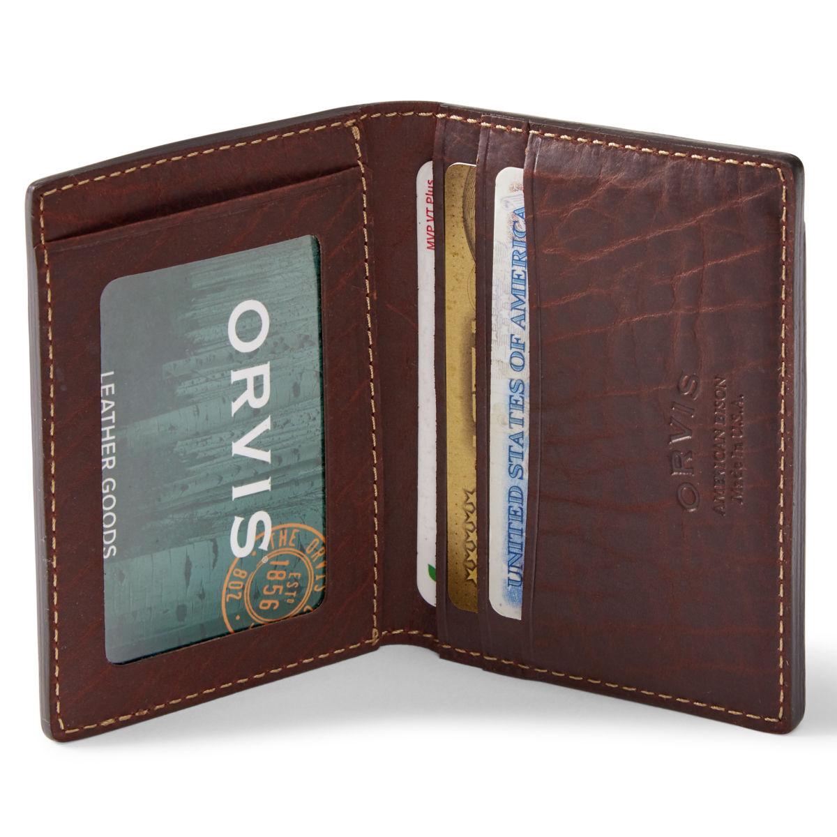 Bison Leather Folding Card Carrier - BROWNimage number 0