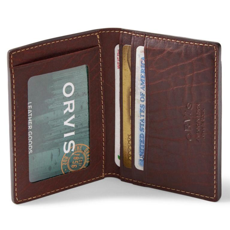 Bison Leather Folding Card Carrier - BROWN image number 0