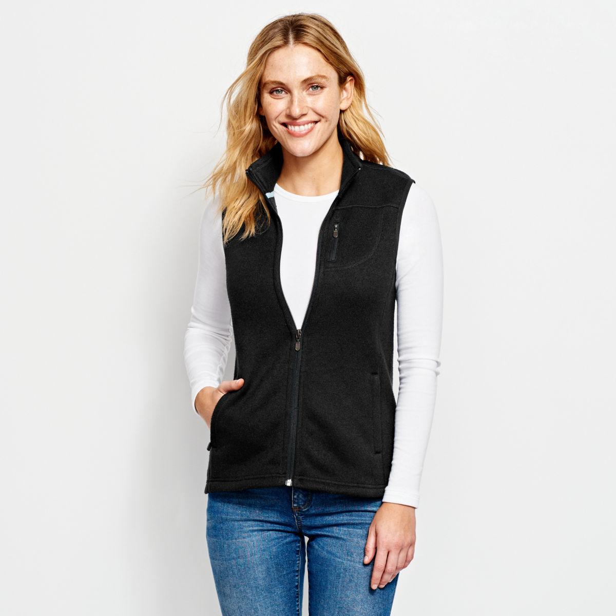 Women's Marled Sweater Fleece Zip-Front Vest - image number 0