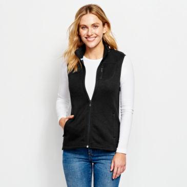 Women's Marled Sweater Fleece Zip-Front Vest -