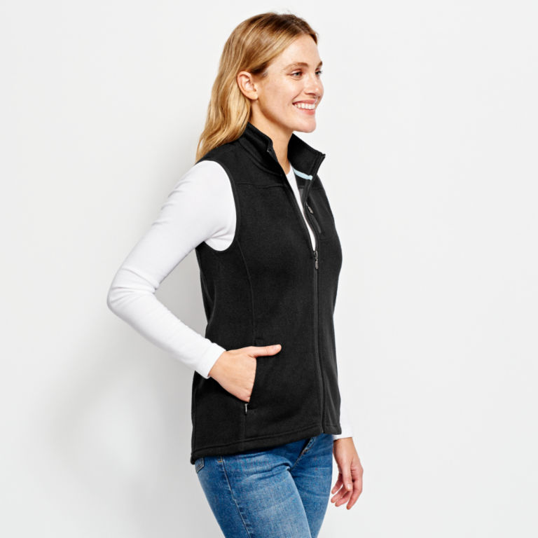 Women's Marled Sweater Fleece Zip-Front Vest -  image number 1
