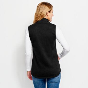 Women's Marled Sweater Fleece Zip-Front Vest -  image number 2