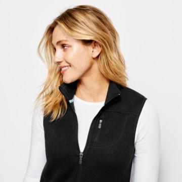 Women's Marled Sweater Fleece Zip-Front Vest -  image number 3