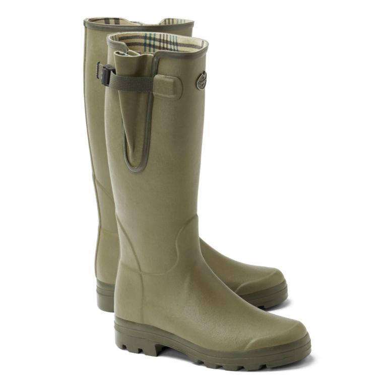 Le Chameau Vierzon Jersey Boots - OLIVE image number 0