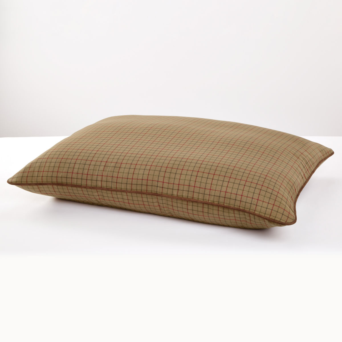 Tattersall Pillow Dog Bed - CAMELimage number 0