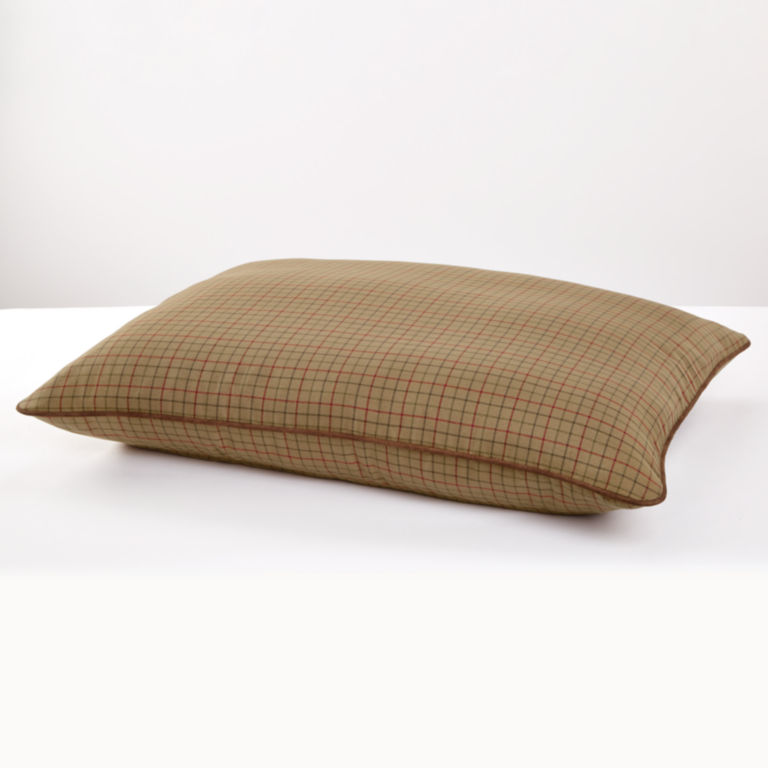 Tattersall Pillow Dog Bed - CAMEL image number 0