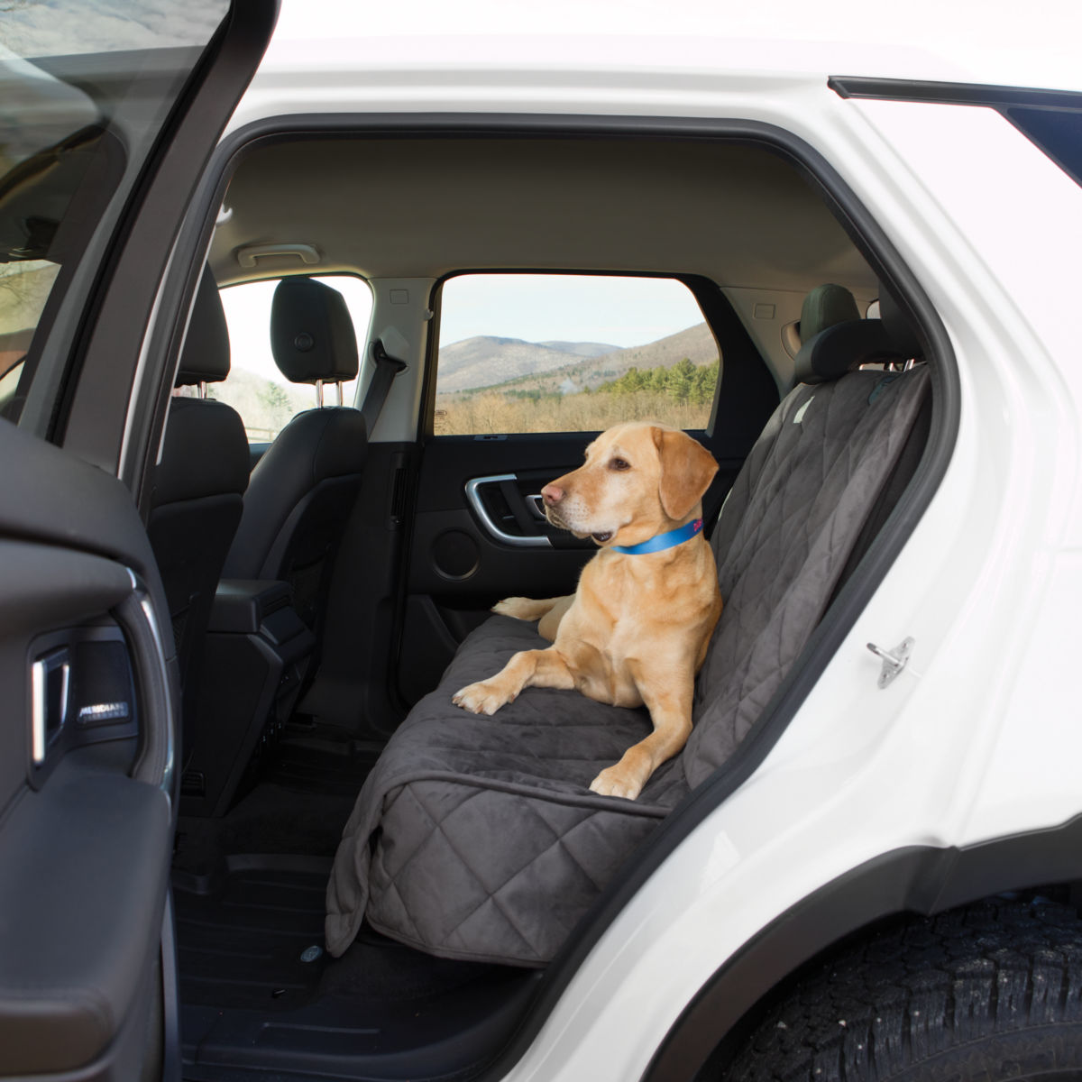 Grip-Tight® Quilted Microfiber Backseat Protector - image number 0