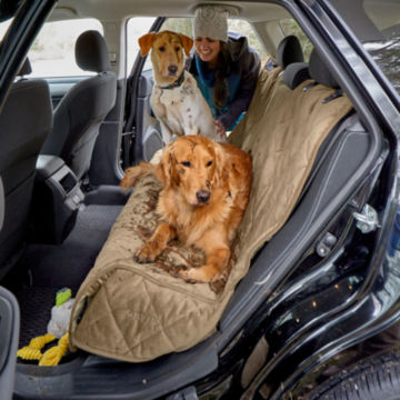 Grip-Tight® Quilted Microfiber Backseat Protector -  image number 1