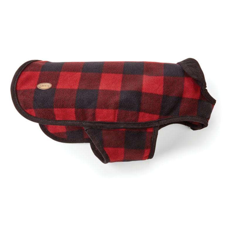 Buffalo Check Dog Jacket - RED/BLACK image number 1