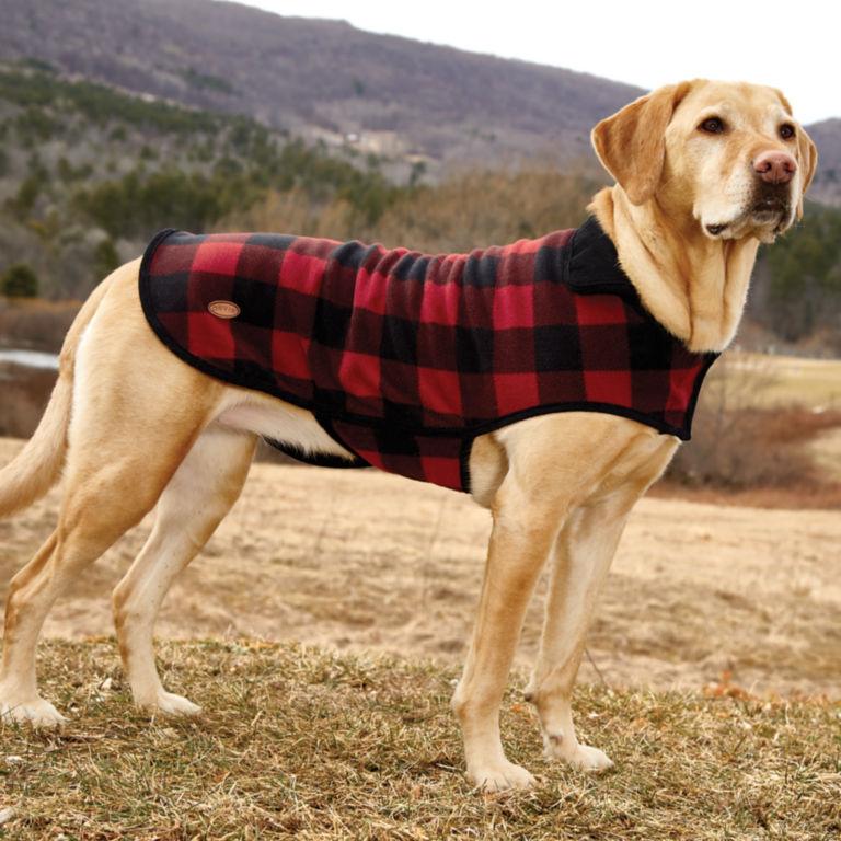 Buffalo Check Dog Jacket - RED/BLACK image number 2