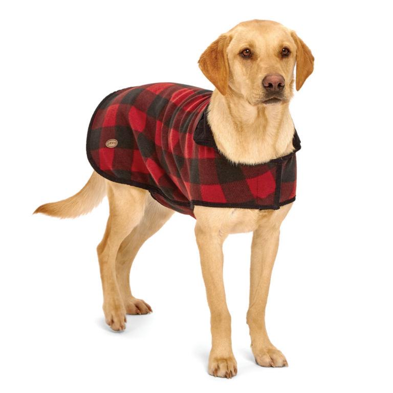 Buffalo Check Dog Jacket - RED/BLACK image number 0