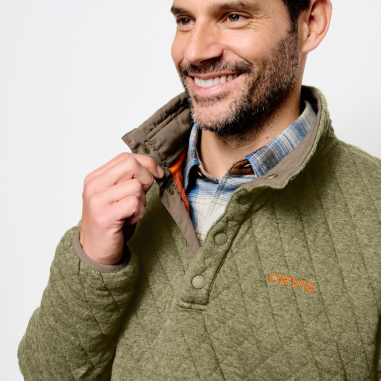 Outdoor Quilted Snap Sweatshirt -  image number 4