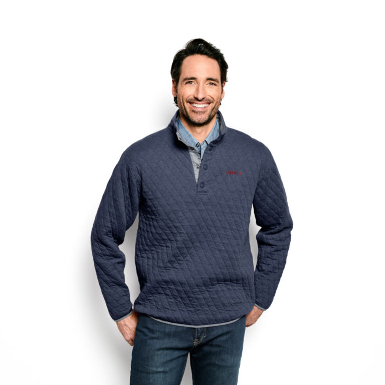 Outdoor Quilted Snap Sweatshirt -  image number 1