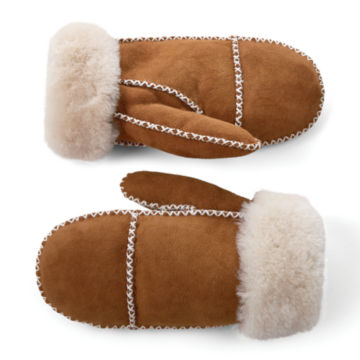 Double-Faced Sheepskin Mittens -  image number 0