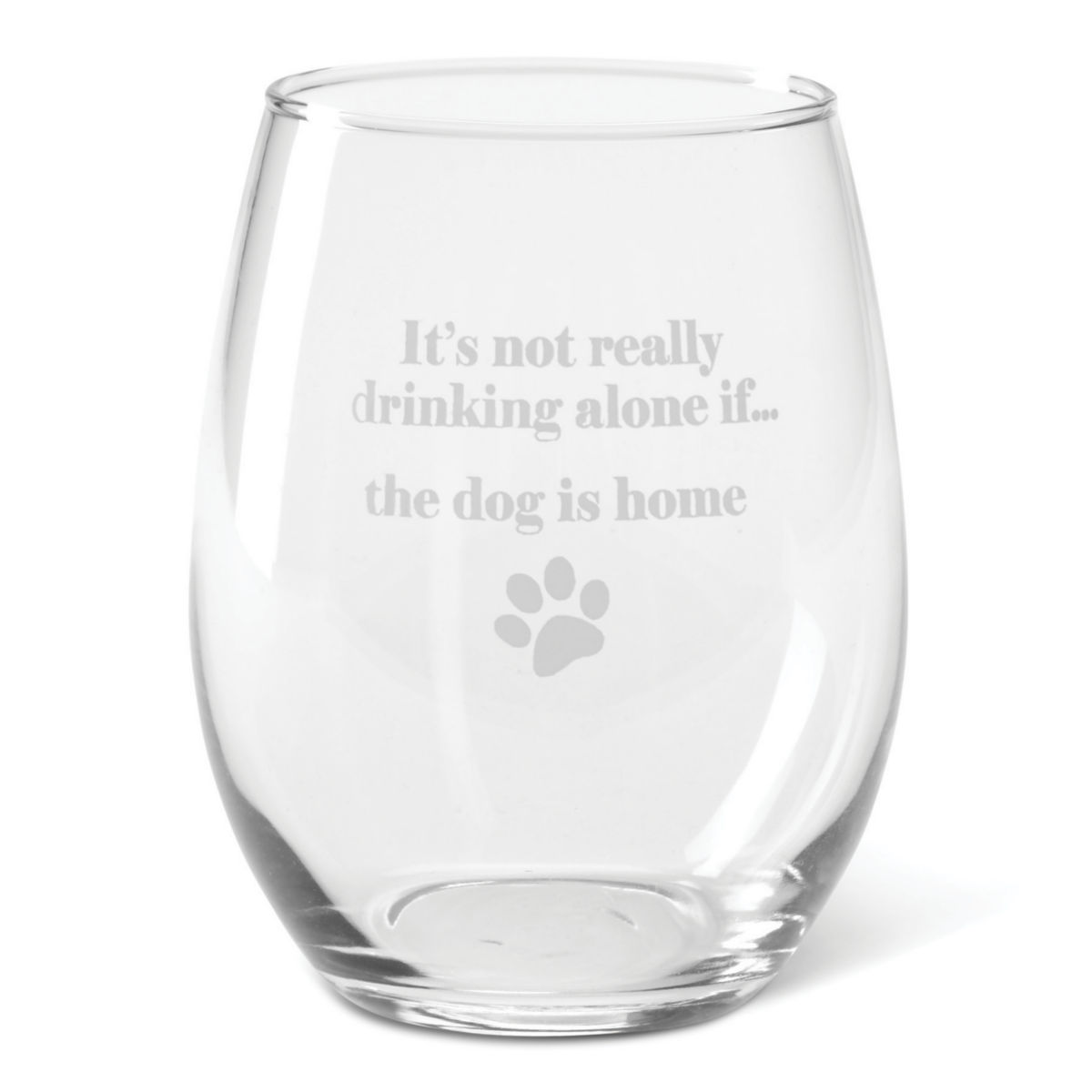 It's Not Drinking Alone Glasses - image number 0