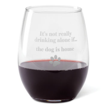 It's Not Drinking Alone Glasses -  image number 1