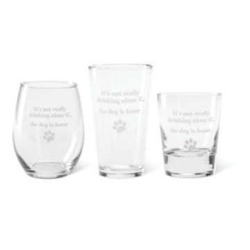It's Not Drinking Alone Glasses -  image number 2