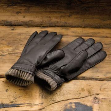 Dorset Goatskin-and-Cashmere Gloves -  image number 1