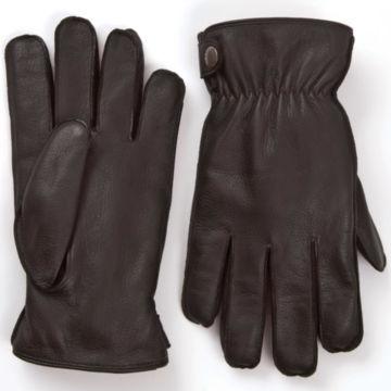 Vermonter Deerskin Leather Gloves - BROWN image number 0