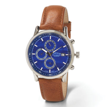 Blue Dial Three-Eye Chronograph - BLUE image number 0