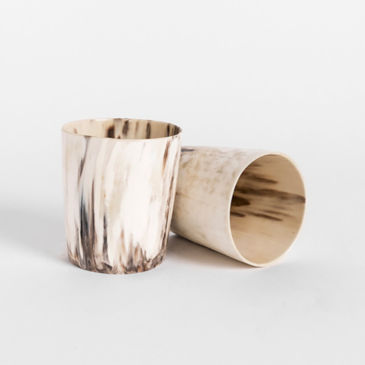 Cow Horn Whiskey Tumblers -
